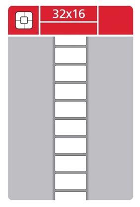Obrázek Etikety pro termotransferové tiskárny - 32 x 16 mm / 5000 etiket na kotouči