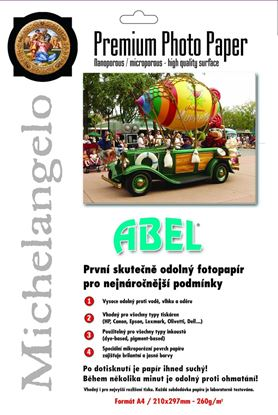 Obrázek Fotopapíry ABEL  - A4 260 g / 10 listů / lesklý