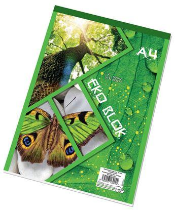 Obrázek Blok šitý recyklovaný - A4 / čtvereček