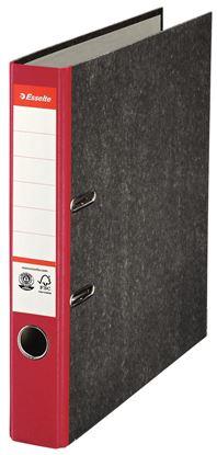 Obrázek Pořadač A4 pákový papírový s barevným hřbetem - hřbet 5 cm / červená / 36062