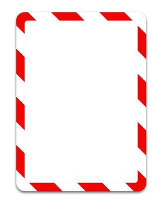 Obrázek Kapsy Magneto bezpečnostní - A4 / červeno-bílá / 2 ks / samolepicí