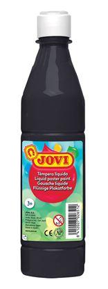 Obrázek Tekuté temperové barvy JOVI v lahvi -  500 ml / černá