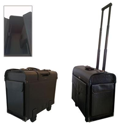 Obrázek Pilotní kufr Attache - černá / s kolečky