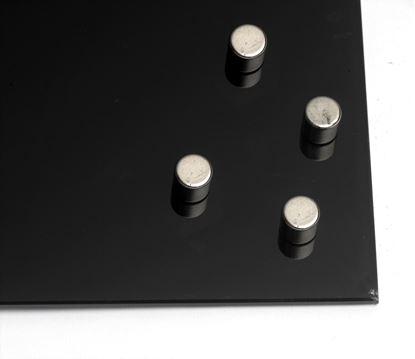 Obrázek Super silné magnety na skleněné tabule -  10 x 10 mm / 4 ks - tvar válce