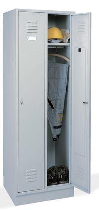 Obrázek Kovová šatní skříň - šedá