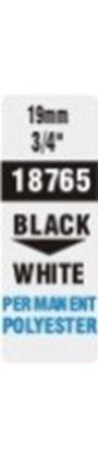 Obrázek Pásky D1 polyesterové permanentní - 19 mm x 5,5 m / černý tisk / bílá páska
