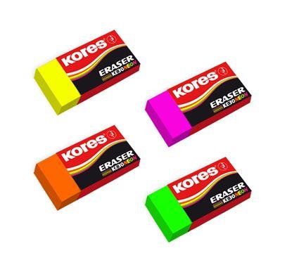 Obrázek Pryž Kores měkká KE30 NEON - barevný mix
