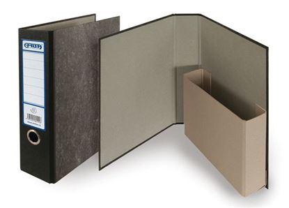 Obrázek Pořadač A4 papírový archivní - hřbet 8 cm / černá