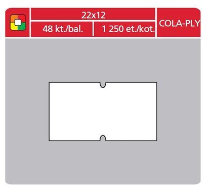 Obrázek Etikety do etiketovacích kleští - 22 x 12 mm COLA-PLY / bílá