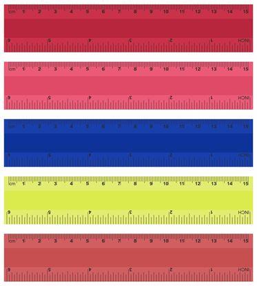 Obrázek Pravítko barevné -  15 cm / mix barev