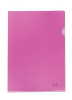 Obrázek Zakládací obal A4 barevný - tvar L / růžovo-červená / 10 ks