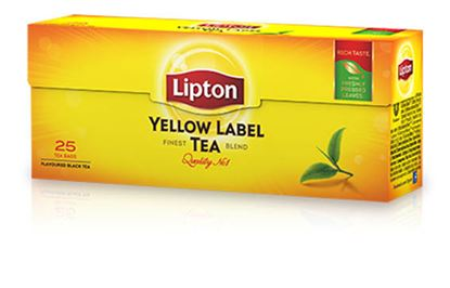 Obrázek Čaj Lipton Yellow Label - 25 sáčků