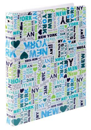 Obrázek Kroužkové záznamníky Karis PVC -  A4 / New York