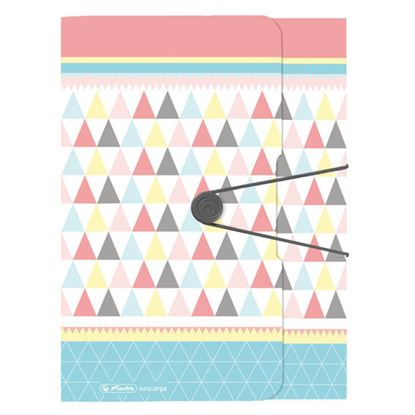 Obrázek Spisové desky A4 s gumou Herlitz Graphic Pastels - Poly