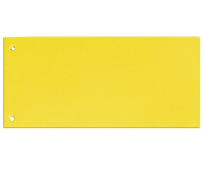 Obrázek Rozdružovací kartonové jazyky  - žlutá / 100 ks