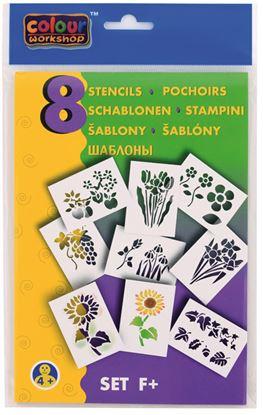 Obrázek Šablony pro foukací fixy 9996 Centropen - F / květiny