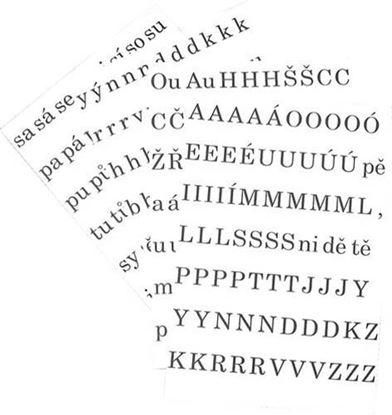 Obrázek Písmena a číslice - sada písmen