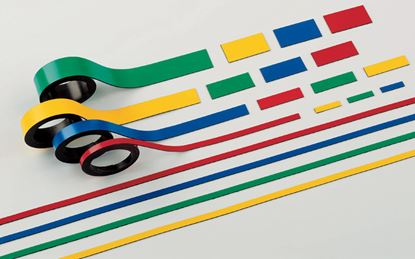 Obrázek Magnetické pásky - 10 mm x 1 m / červená / 2 ks