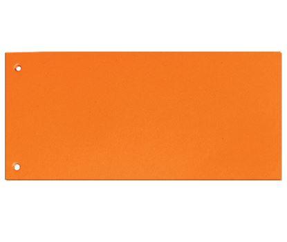 Obrázek Rozdružovací kartonové jazyky  - oranžová / 100 ks
