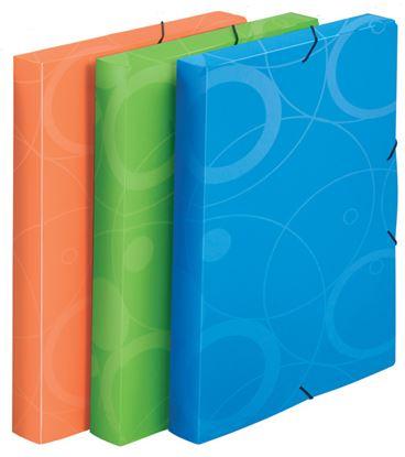 Obrázek Box na spisy A4 s gumou NeoColori - zelená