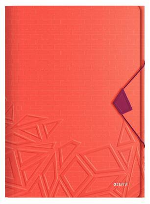 Obrázek Spisové desky A4  s gumou Leitz Urban Chic -  červená