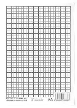 Obrázek Podložky do sešitů papírové + PVC - podložka A5 / linka - čtvereček / papírová
