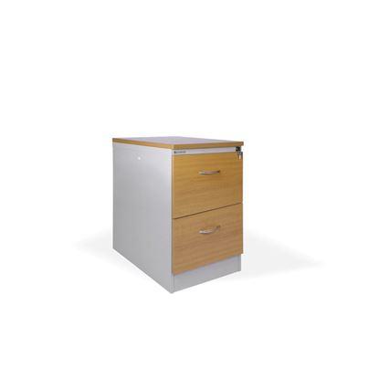 Obrázek Kartotéky kovové / čelo ze dřeva - RGD 12 CE / 2 zásuvky
