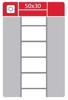 Obrázek Etikety pro termotransferové tiskárny - 50 x 30 mm / 3000 etiket na kotouči