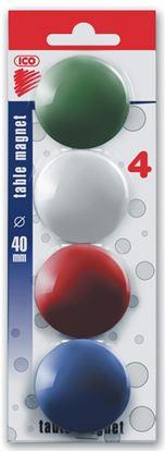 Obrázek Magnety - průměr 40 mm / barevný mix / 4 ks