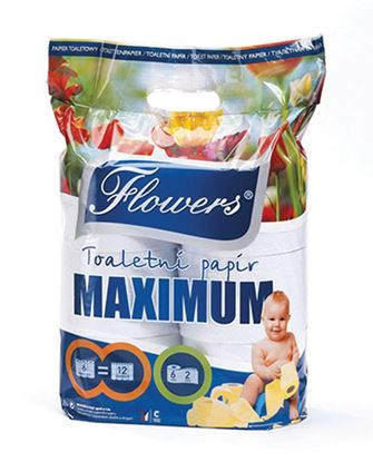 Obrázek Flowers Maximum toaletní papír 2-vrstvý 6ks
