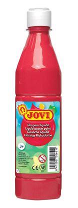 Obrázek Tekuté temperové barvy JOVI v lahvi - 500 ml / červená