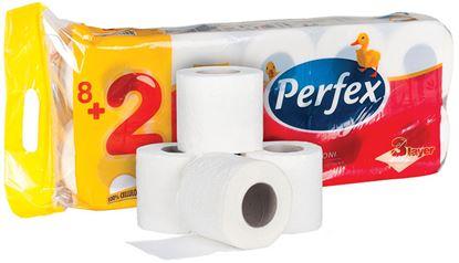 Obrázek Perfex Deluxe toaletní papír 3-vrstvý 10ks