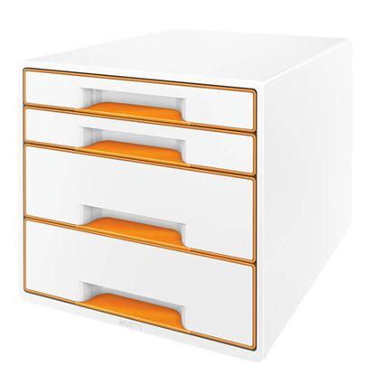 Obrázek Zásuvkový box Leitz WOW -  oranžová / 2+2 zásuvky