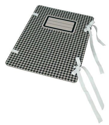 Obrázek Spisové desky s tkanicí Emba s potiskem - černá