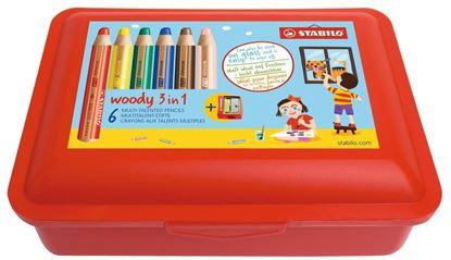 Obrázek Multifunkční pastelky STABILO® woody 3 in 1 Box - 6 barev v krabičce