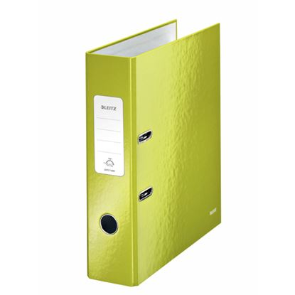 Obrázek Pořadač A4 pákový Leitz 180° WOW - hřbet 8 cm / zelená / 10050064