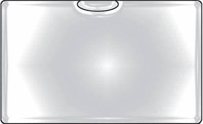 Obrázek Samolepicí kapsy na vizitky - horní vkládání / 6 ks