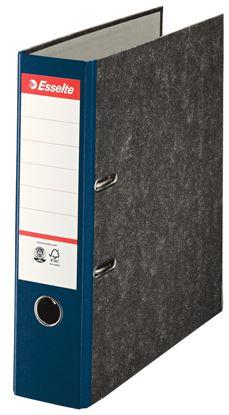 Obrázek Pořadač A4 pákový papírový s barevným hřbetem - hřbet 7,5 cm / modrá / 36064