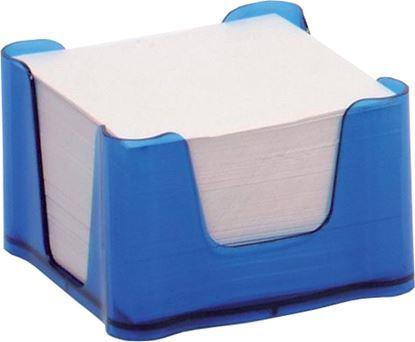 Obrázek Zásobník na záznamní kostky - transparentní / modrá
