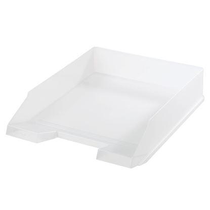 Obrázek Kancelářský box na spisy Herlitz - bílá / transparentní