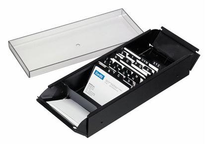 Obrázek Zásobník na vizitky Bantex - černý / 600 ks vizitek