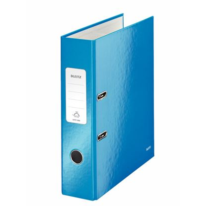 Obrázek Pořadač A4 pákový Leitz 180° WOW - hřbet 8 cm / modrá / 10050036
