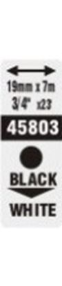 Obrázek Pásky D1 standardní - 19 mm x 7 m / černý tisk / bílá páska