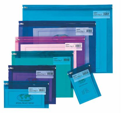 Obrázek Spisové desky na zip Electra - A4 / barevný mix