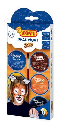 Obrázek Obličejové barvy JOVI - 6 x 8 ml / zoo