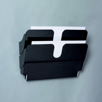 Obrázek Držáky na prospekty Durable -  Flexiplus 2 / A4 černý / na šířku