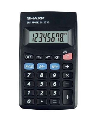 Obrázek Kalkulačka Sharp EL 233SBBK -  displej 8 míst