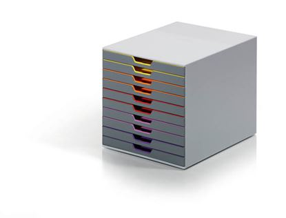 Obrázek Zásuvkový box VARICOLOR® - 10 zásuvek / šedá