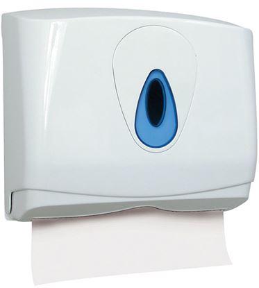 Obrázek Zásobník na skládané ručníky Merida TOP - bílá / modrá / mini