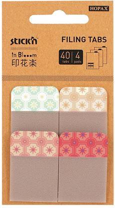 Obrázek Designová řada záložek Stick´n by Hopax in Blooom - 25 x 38 mm / 4 x 10 záložek / extra pevné